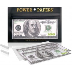 Papel de Fumar Power Papers de 100 Dolares con Boquillas