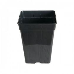 Maceta Cuadrada Negra 15 x 15 x 18,5 cm 3,25 L