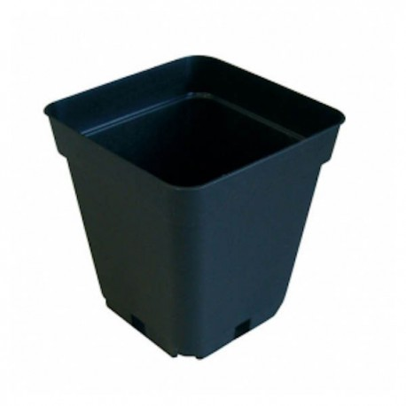 Maceta Cuadrada Negra 23x23x26,5cm 11 Litros